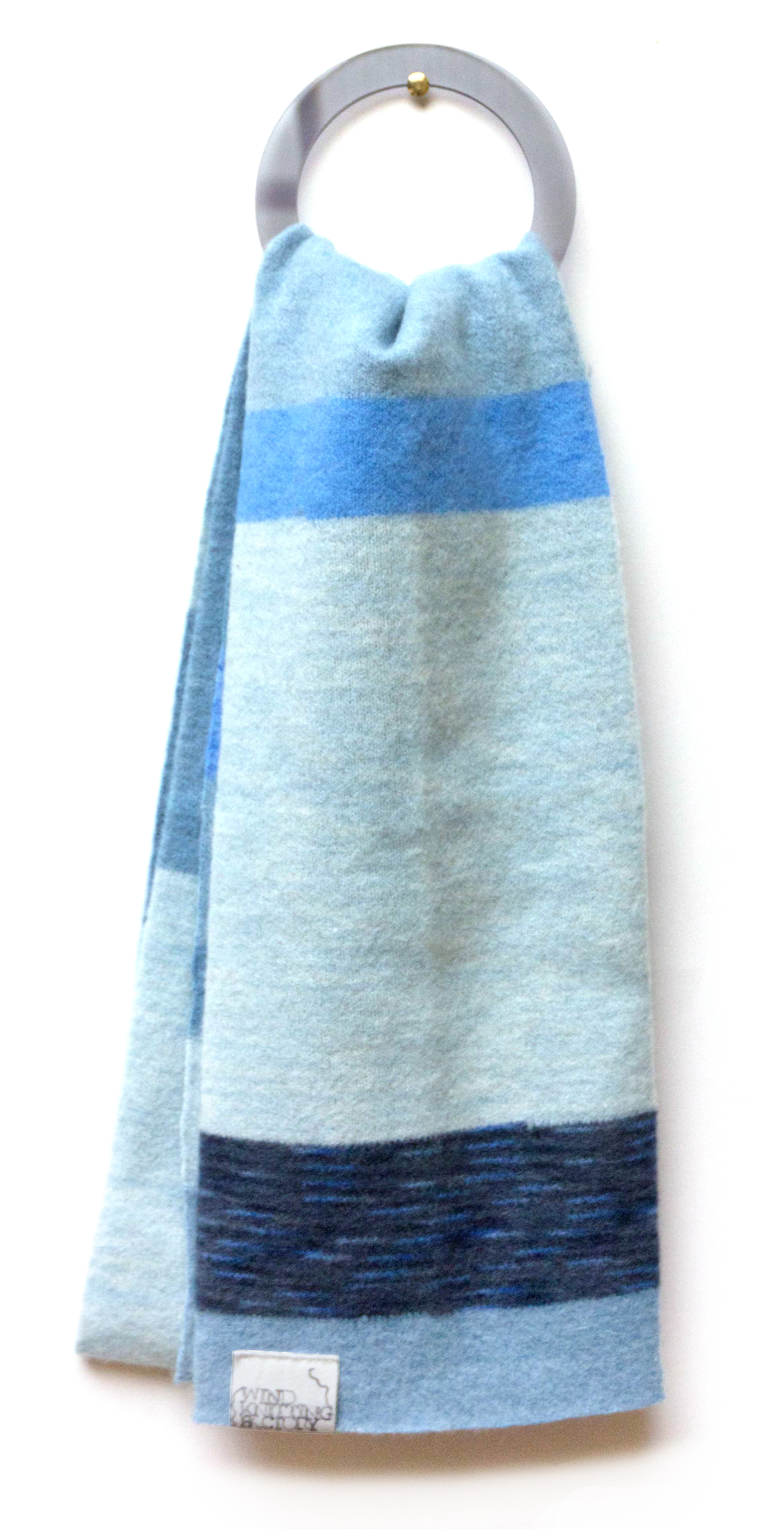 Wind Knitted Scarf natural dye
